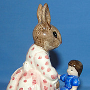 "Royal Doulton Dollie Bunnykins ""Play Time"" bunny figurine"