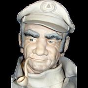 "Impressive Edward J. Rohn Porcelain Sculpture Entitled ""Captain""."