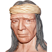 "Vintage ""Apache"" Indian bust by Artist Edward J. Rohn - Incredible Porcelain Sculpture!"