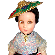 Stunning French Nicette Cloth Doll / Poupee