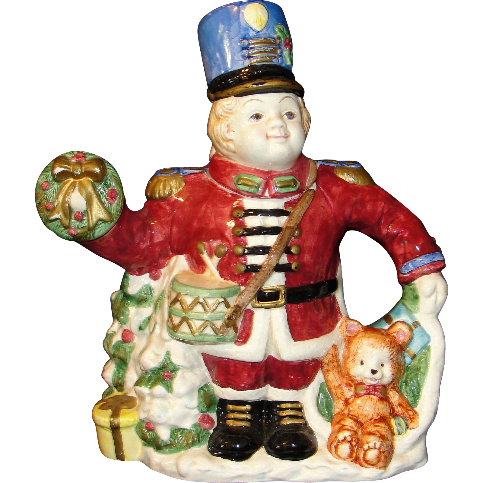 Vintage Large Fitz and Floyd Teapot: Christmas Nutcracker : Heirloom ...