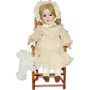 "Pretty Antique German Bisque Doll - 18"" AM 390n"