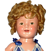 1935 Composition Shirley Temple Doll in Tagged mint condition Jumper