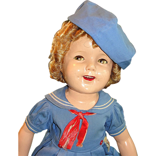 """27"""" Flirty-Eye Shirley Temple 1930's Doll in Tagged Costume"""