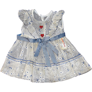 Pristine 1937 Tagged Shirley Temple Heart Dress - Fabulous!