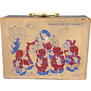 Disney Snow White & Seven Dwarfs Child's Carrying Case by Neevel ca 1940-50's era