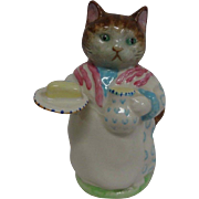 "Older Beswick ""Ribby""! Beatrix Potter's  F. Warne & Co. Ltd. Adorable Mother Cat Figurine"