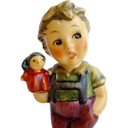 "Hummel Figurine: ""Puppet Prince"" Boy 2103/B Goebel Hummel Club Membership Item ""Seid Ihr Alle Da?"""