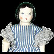 Vintage Ruth Gibbs Godey Little Lady China Doll with Original Wardrobe