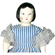 Ruth Gibbs Godey Little Lady China Doll - 3 Original Dresses!