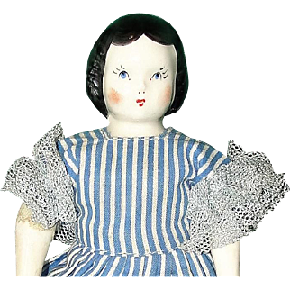 Vintage Ruth Gibbs Godey Little Lady China Doll with Original Wardrobe