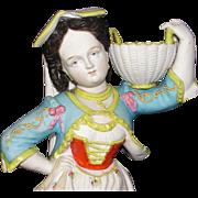 Beautiful Antique Bohemian Woman Figurine