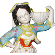 Enormous, Beautiful Antique Bohemian Woman Figurine