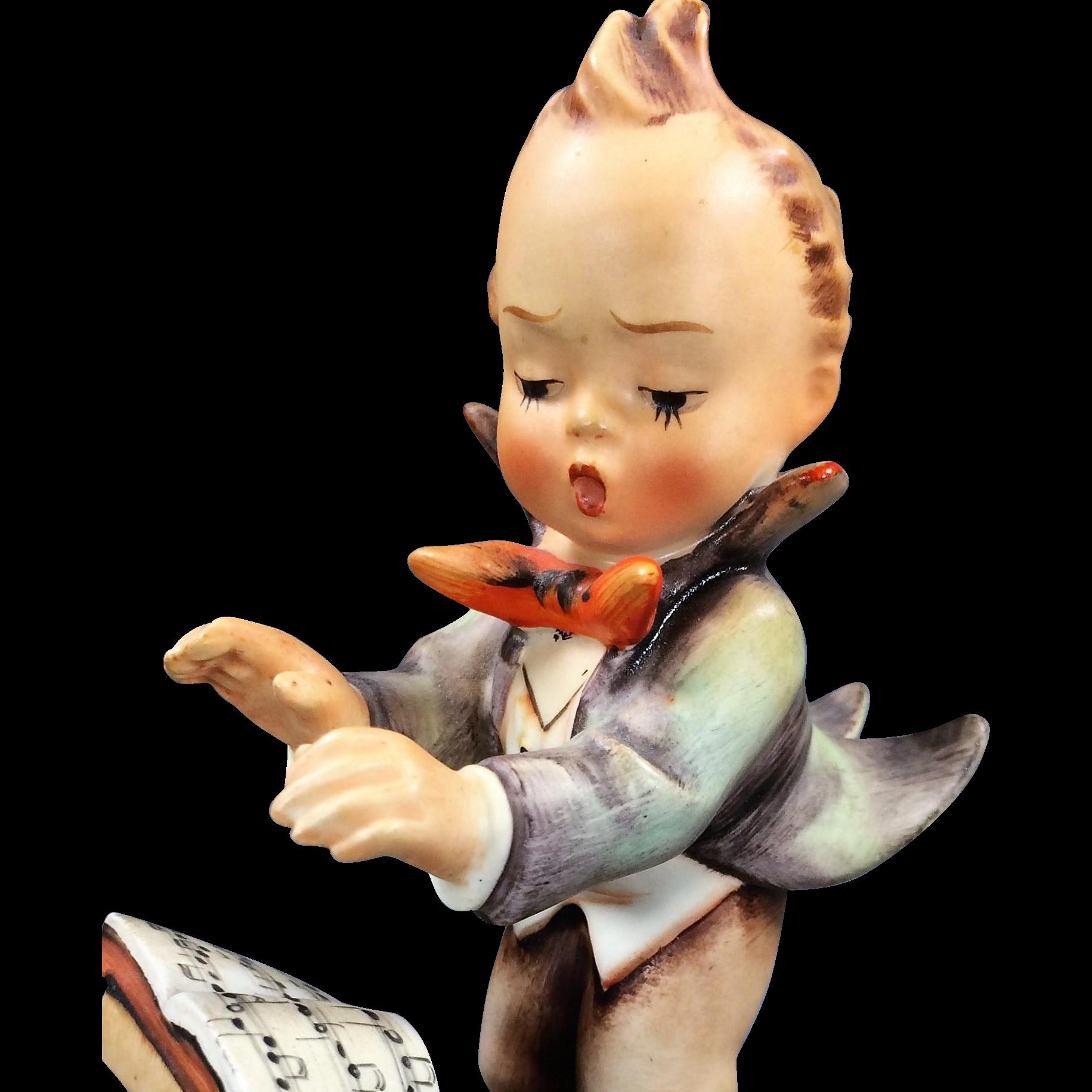 "Full Bee Hummel: ""Band Leader"" 5"" Figurine (#129, TMK 2)"