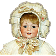 Antique George Borgfeldlt #327 Character Baby Doll in Elaborate Victorian Costume