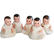 "Adorable Set of 11"" Madame Alexander Composition Dionne Quintuplets ca 1936"