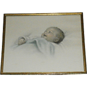"Original Bessie Gutmann Framed Print ""Chuckles"" - Darling!"