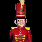 "Ultra RARE Radio Advertising Doll - GE Radio ""Bandy"" Doll by Cameo - 19"" Wooden Marching Bandleader Mascot Doll = Wow!"