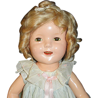 """20"""" Shirley Temple Composition Doll by Ideal - First Year of Production, 1934"""