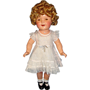 "20"" Composition Shirley Temple Doll w/ Wardrobe"