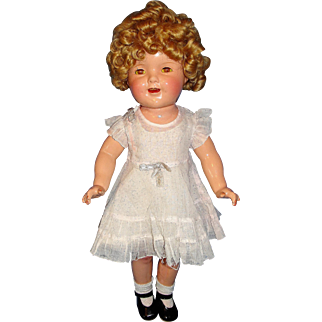 """20"""" Composition Shirley Temple Doll w/ Wardrobe"""