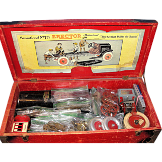 Vintage 1920's Erector Set Model No. 7-1/2 Chassis