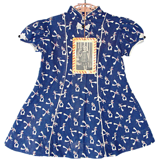 Rare 1930's Shirley Temple Brand Cinderella Toddler/Girls Dress with hang tag!