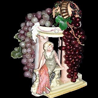 Beautiful Antique German Bisque Center Piece Figurine