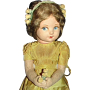 "Vintage 1930's Cloth Norah Wellings Character Doll ""Norene"" as a Young Princess Elizabeth"