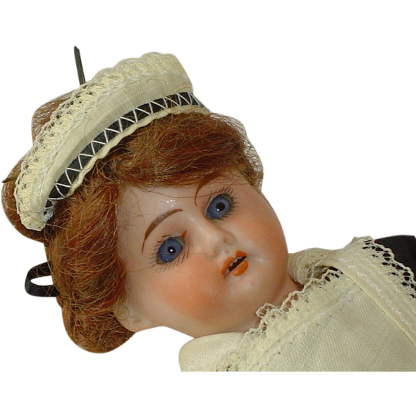 Antique German 14 Inch Early Horseshoe Mark Ernst Heubach Character Doll