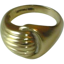 Antique 10K Gold Ring Classic Knot Ring