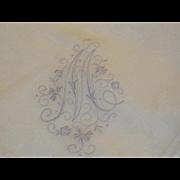 "Vintage Linen Monogram ""M"" Hankie Hanky"