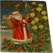 Antique Santa Christmas Post Card c1900
