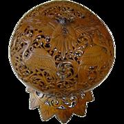 Antique Fine Hand Carved Birds