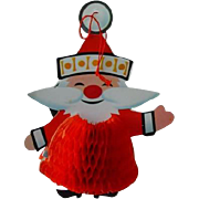 Vintage Honeycomb Christmas Santa