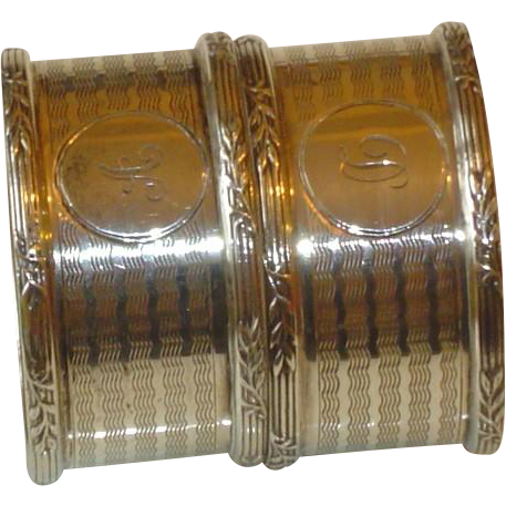 Antique Sterling Silver Napkins Rings 1913