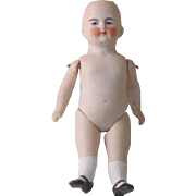 Antique German Bisque Doll Pink Tint
