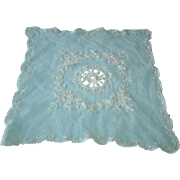 Vintage Net Lace with Tambour Embroidery