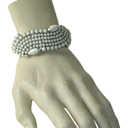 Art Deco Milk Glass Bracelet
