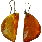 Baltic Amber Earrings Estate