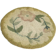 Vintage Hand Made Wool Doll House Rug
