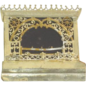 Antique Tin Doll House Fireplace