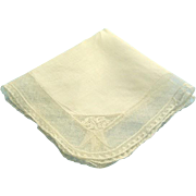 Vintage French Wedding Hankie Hanky