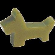 Vintage Bakelite Scottie Dog Brooch