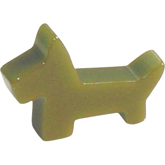 Vintage Bakelite Scottie Dog Brooch