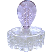 Czech Perfume Bottle with Amethyst Coloured Stopper