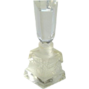 Vintage Frosted Glass Perfume Bottle