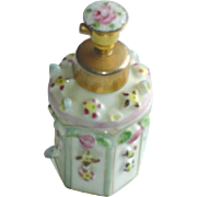 Vintage Irice Hand Painted Floral Perfume Bottle