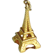 Vintage 14K Gold Eiffel Charm