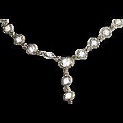 Vintage Crystal Dangling Necklace